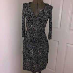 INC Faux Wrap Dress